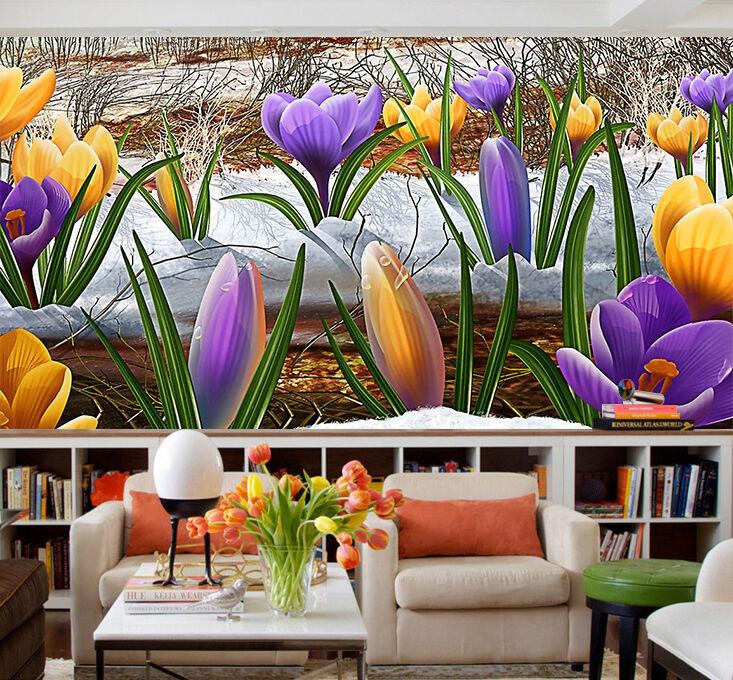 3D tulipano 99 Parete Murale Foto Carta da parati immagine sfondo muro stampa