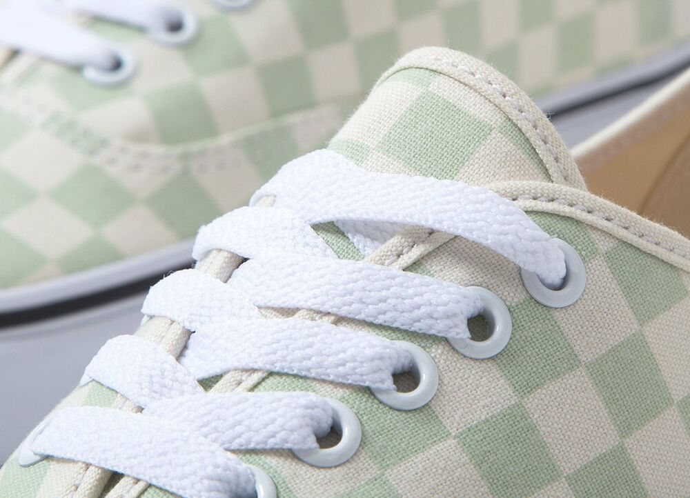 Vans Off The Wall Authentique Damier Ambrosia Vert Blanc Chaussures Hommes 12