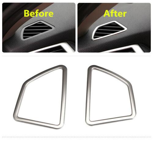 Steel Interior Dashboard Upper air vent cover trim 2x For BMW X5 E70 2011-2013