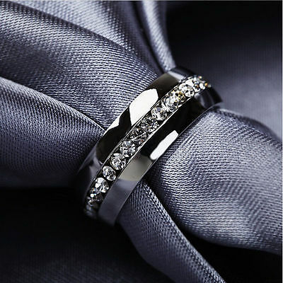 Women's Men's Stainless Steel Ring Gold Plated &Sliver Plated Wedding Rings