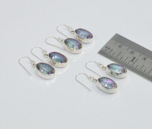 Wholesale 3Pr 925 Solid Sterling Silver Mercury Mystic Topaz Earring Lot O950