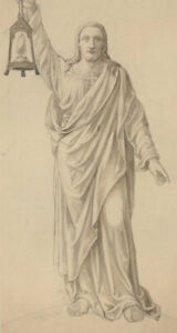 Early 20th Century Pen and Ink Drawing - Study of Christ in Robes