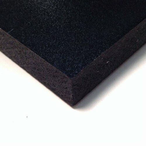 ".25/"" Thick Nominal 1//4/"" Black PVC Celtec Foam Board Sheet 24/"" x 48/"" x 6mm"