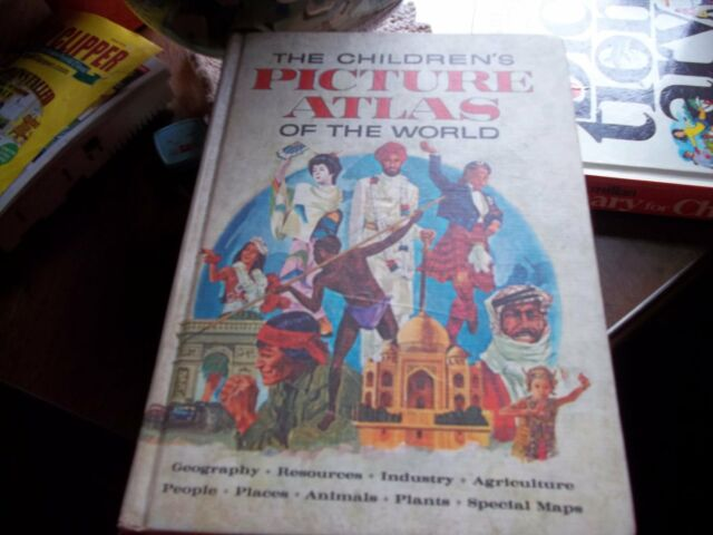 The Children's Picture Atlas Of The World 1966 Golden Revised Hardcover
