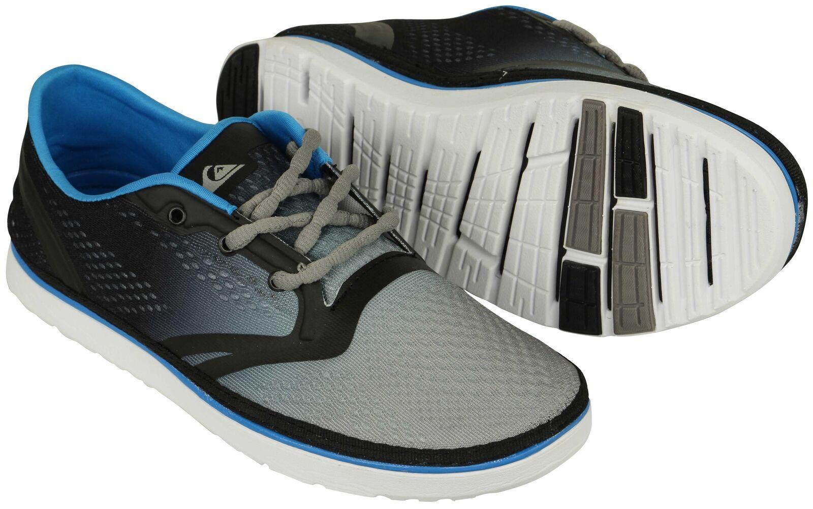 Quiksilver Mens AG47 Amphibian shoes - Black White bluee