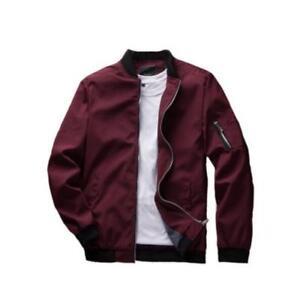 1089f05a8506 Mens Casual Jacket Bomber Pilot Coat Thin Spring Baseball Outwear ...
