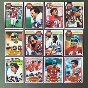 Lot 12 cartes NFL Denvers Broncos 1977 1979 1980 TOPPS Football Américain
