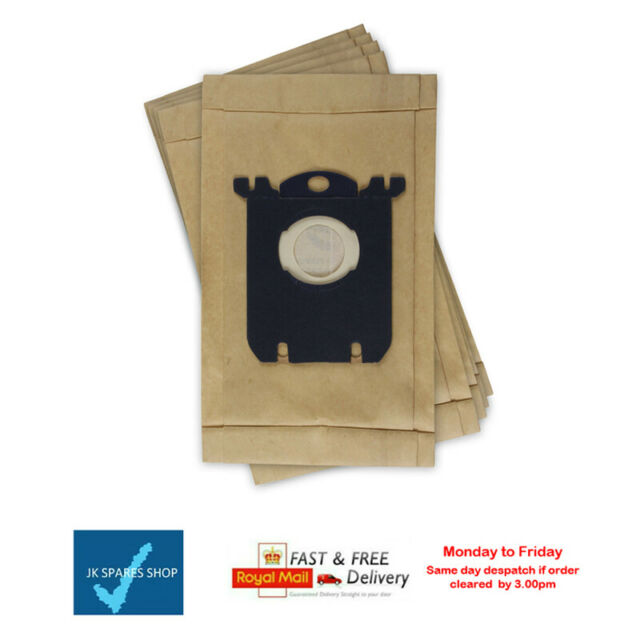 PHILIPS E201 E201B Vacuum Cleaner S-Bag Cloth Dust Bags x 4 Fresh