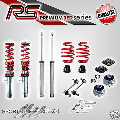RS Premium Gewindefahrwerk RED SERIES Gas Domlager Koppelstangen BMW 3er E46 NEU