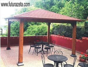 Gazebo in legno 350 x 350 casetta arredo esterno giardino