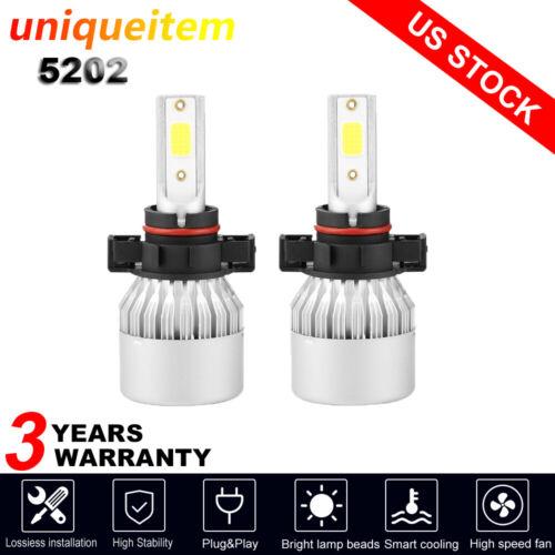 2x 5202 2504 9009 CREE LED Fog Light Bulb For Chevrolet Silverado 1500 2008-2015