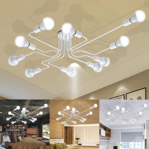 E27 Retro Ceiling Light Modern Vintage Industrial Metal Pendant Lamp 4//6//8//10Way