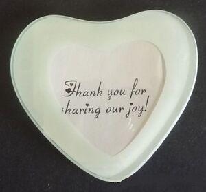 2x-Love-Heart-Glass-PHOTO-FRAME-COASTER-White-Border-Wedding-Engagement-Family
