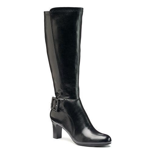 damen CROFT & BARROW Wide Calf Tall Dress Stiefel Knee High schwarz sz 9