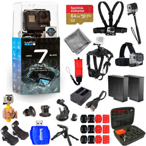 GoPro-HERO7-HERO-7-Action-Camera-Black-Pro-Accessory-Kit-W-Extra-Batteries