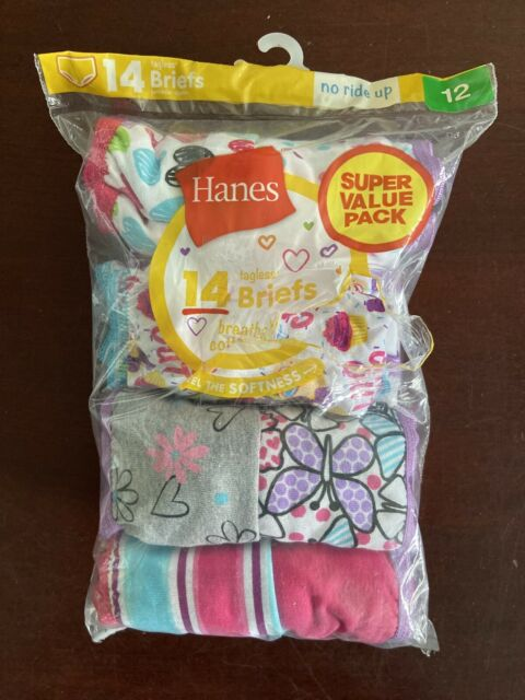 Hanes 14 Briefs For Girl Size 12