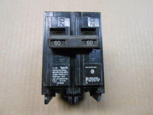 1 USED SIEMENS BL B260 CIRCUIT BREAKER 60A 60 AMP 2P 2 POLE 240V 240 VOLT
