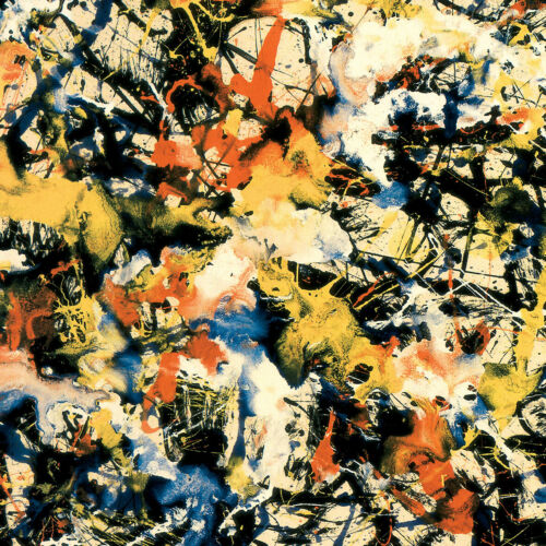 """DRIBBLES SPLATTER ABSTRACT CANVAS 38W/""""x22H/"""" CONVERGENCE by JACKSON POLLOCK"""