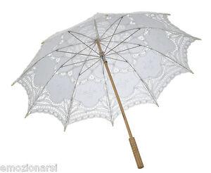 a7e30f29f034 Caricamento dell immagine in corso ombrello-parasole-sposa -MATRIMONIO-stoffa-bianco-ombrellino-shabby-