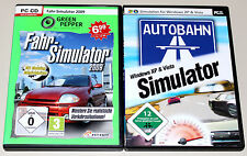 2 PC SPIELE SET - FAHR SIMULATOR 2009 & AUTOBAHN SIMULATION - BUNDLE - CD ROM