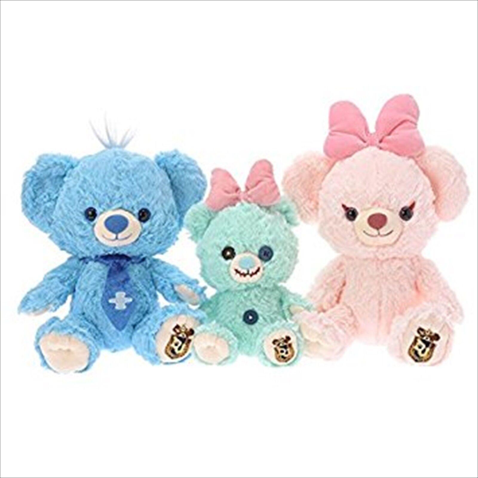 Disney Store limited UniBEARsity Blue Berry Pie Plush Set  Lilo /& Stitch,Scrump