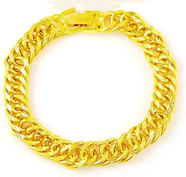 18k Yellow Gold Bracelets Bangle Womens