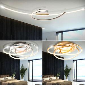 Design led decken lampen ringe beleuchtung wohn zimmer alu for Decken led leuchten