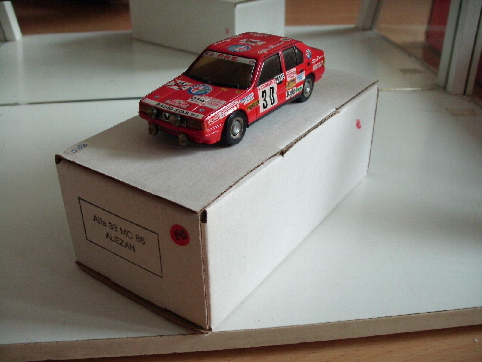 Hand Built Model Alezan Alfa Romeo 33 Monte Carlo 1986 in rosso on 1 43 + Box
