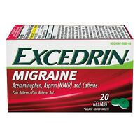 Excedrin Migraine Pain Reliever Geltabs 20 Ea (pack Of 6) on sale