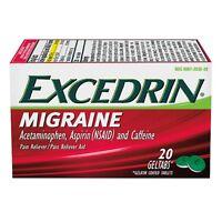 Excedrin Migraine Pain Reliever Geltabs 20 Ea (pack Of 6) on sale