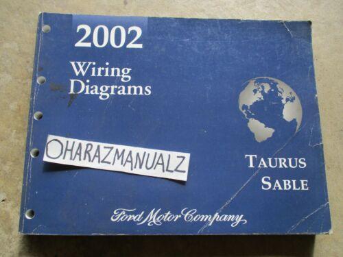 2002 Ford Taurus Mercury Sable Wiring Diagrams Manual OEM