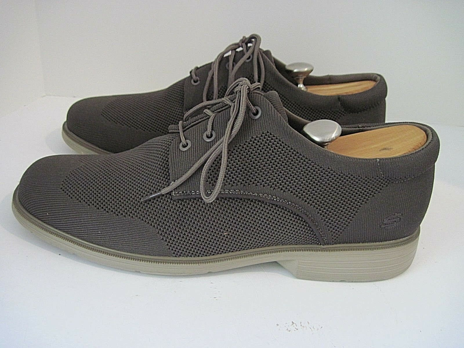 Mens Skechers Brown Wing Tip Lace Textile Lace Tip Up Walking Shoes Superfeet Insoles 14M e2381e