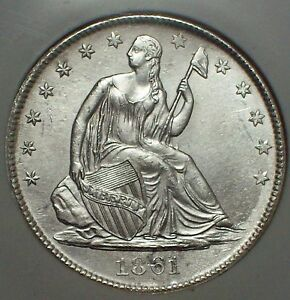 1861-O-SILVER-Half-Dollar-NGC-SHIPWRECK-EFFECT-SS-Republic-W-08-LOUISIANA-ISSUE
