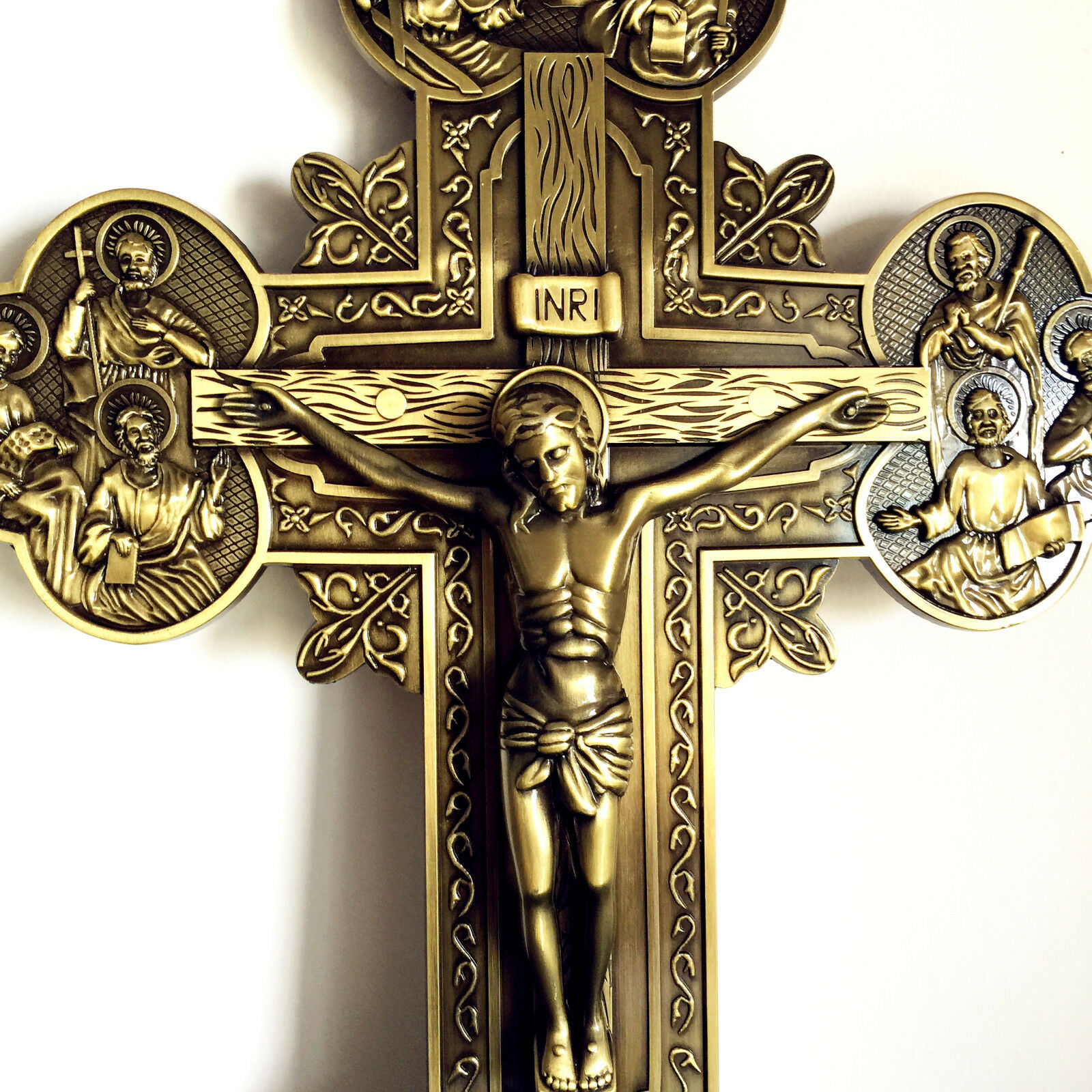 "Large 11"" Jesus and 12 Disciples vintage wall cross ..."