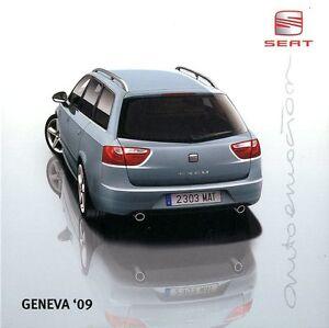 2009 SEAT GENF GENEVA GENEVE PRESSKIT PRESSEMAPPE PERSMAP DVD