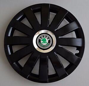 """14/"""" Skoda Fabia Covers Hub Caps,Quantity 4 etc...Wheel Trims"""