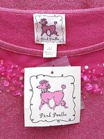 Pink Poodle Knit Top Medium Rose Quartz Pink Rock Sugar Lurex Sweater