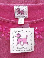 Pink Poodle Knit Top Medium Rose Quartz Pink Rock Sugar Lurex Sweater