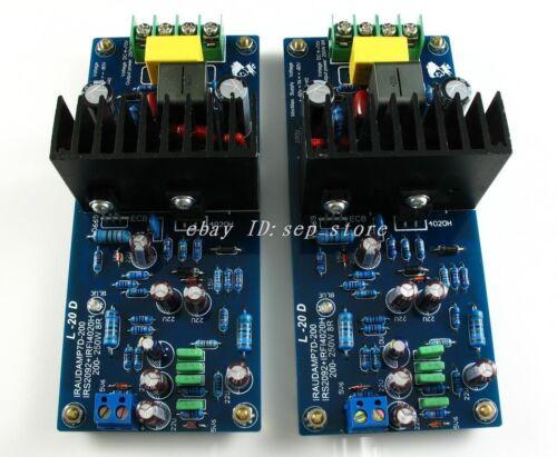 HL Assembled LJM L20D IRS2092 Top Class D amplifier board 200-250W *2 CL-183