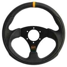 QSP Leather Steering Wheel, flat 300mm QS.L300Z3