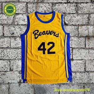 11999bd89712 Teen Wolf Scott Howard Beacon Beavers  42 Basketball Jersey Stitched ...