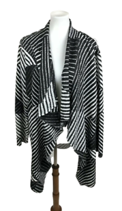 Chicos-Travelers-Collection-Women-Sze-3-XL-Cascade-Cardigan-Sweater-Crinkle-Open
