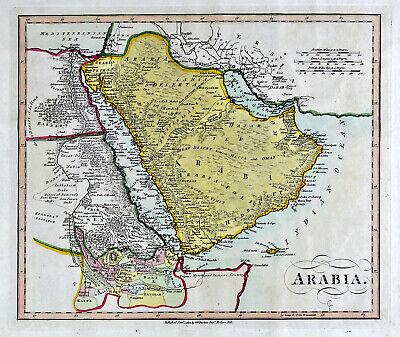 1812 Darton Union Atlas Map Saudi Arabia Bahrain Kalhat Mecca Medina Oman  Egypt | eBay
