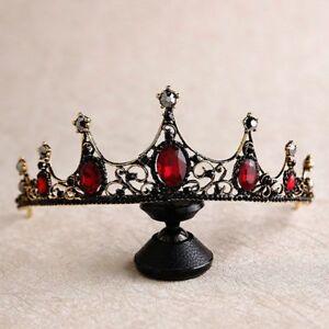 Crystal-Tiara-Pageants-Headband-Bride-Pearl-Crown-Hair-Bridal-Rhinestone-Wedding