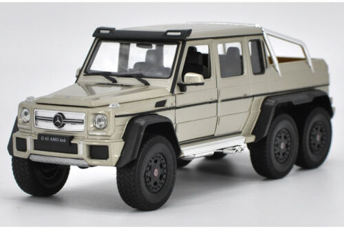 Welly 1:24 Mercedes Benz G63 AMG 6X6 Diecast Model Sports Racing Car Toy Golden