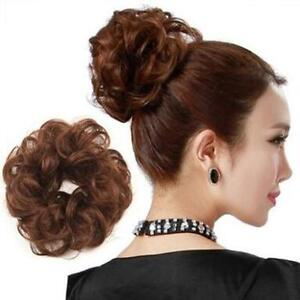 PONY-TAIL-EXTENSION-WIG-HAIRPIECE-ELASTIC-DONUT-RING-HAIR-BUN-SCRUNCHIE-HOLDER
