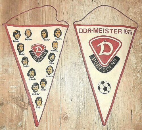Orig Wimpel SG Dynamo Dresden DDR Meister 1976 DDR Oberliga Fussball SGD