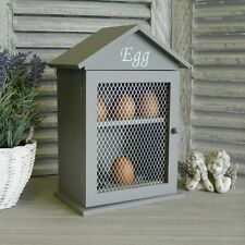 Grey Egg Holder Cabinet Kitchen Accessories  Storage Shabby Vintage Chic Rustic