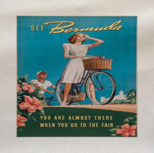 Bicicleta De Verano De Mujer Panel De Tela Impresa hacer un Cojín De Tapicería Craft