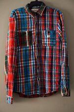 6323e46f8 Denim   Supply Ralph Lauren Men s Ward 100% Cotton Patchwork Plaid Shirt  Size M